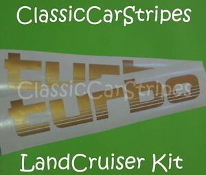 TURBO-GOLD-Pair-Stickers-Decal-suit-Toyota-Landcruiser-100-series
