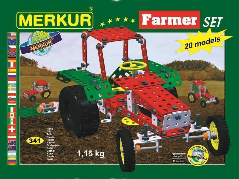 Metal construction set Merkur Farmer, 1,2 kg, NEW, made in CZECH REPUBLIC