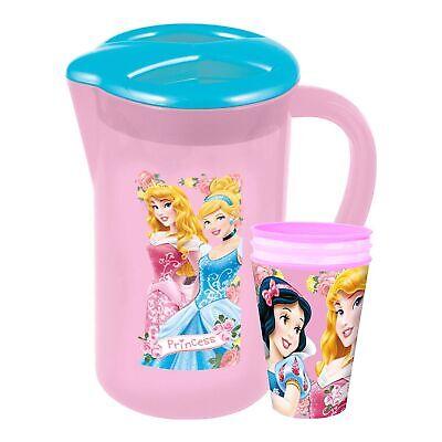 Disney/carattere Pic-nic Brocca Brocca Con 3 Tumbler Bicchieri-principessa- Forma Elegante