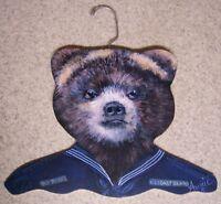 Clothes Hanger Military Animal Coast Guard Bear Stupell Wood