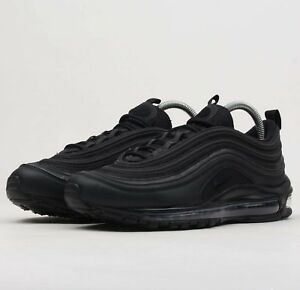 brand new f9b16 6e3f6 Image is loading Nike-Air-Max-97-Premium-Triple-Black-BQ4567-