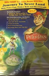 Peter-Pan-Journey-to-Never-Land-Wal-Mart-Exclusive-Bonus-DVD-NEW