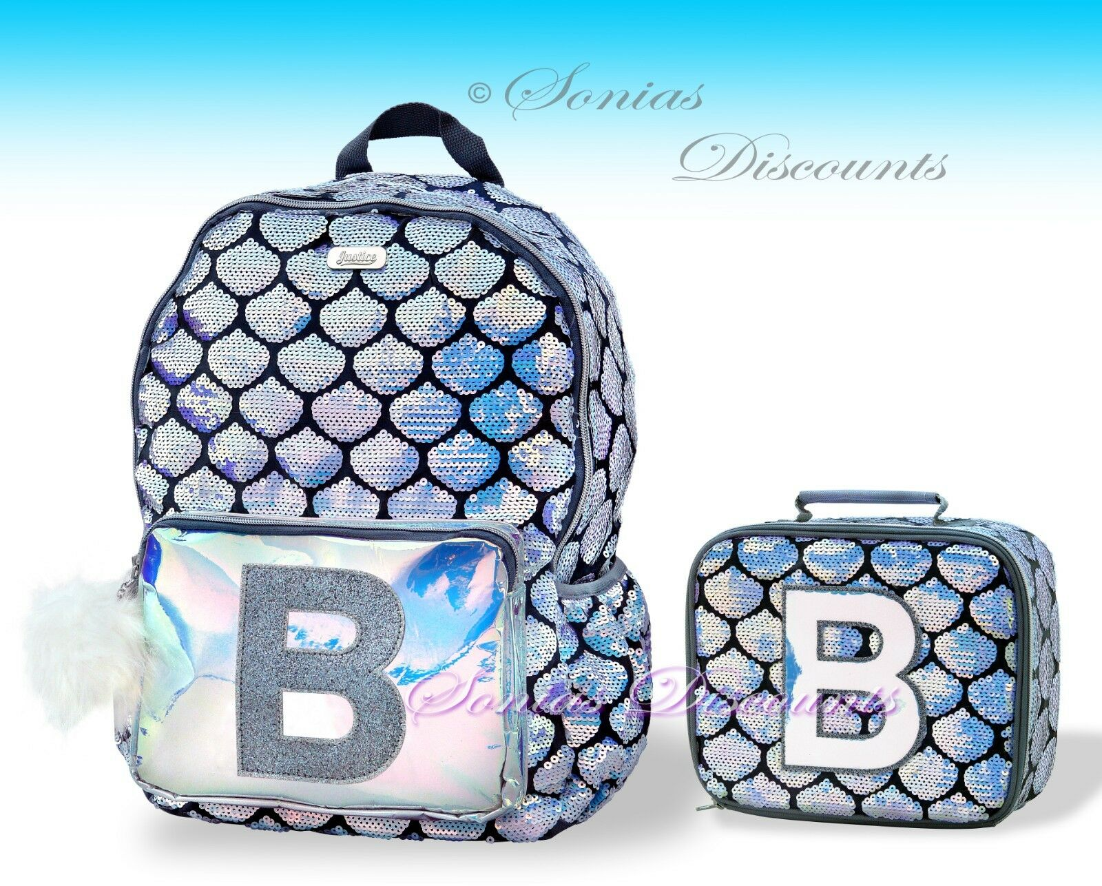 Justice for Girls Sequin Butterfly Insulated Lunch Tote