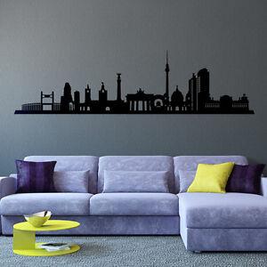 Wandtattoo-Berlin-Stadt-Skyline-Silhouette-Aufkleber-Wall-Wand-Tattoo-2080