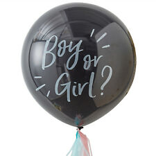 "Ballon XXL Boy or Girl? ""Oh Baby"" Riesenballons Latex Geschlecht Baby Party"