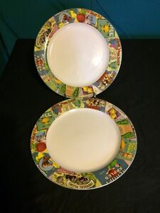 Lot Of 2 SAKURA Casual Dining Oneida VINTAGE LABELS Dinner Plates 10 ...