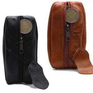 Porte-monnaie-Bourse-en-cuir-veritable-d-039-excellente-qualite-Homme-Femme