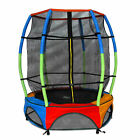 Junior Trampoline With Safety Net Kids Toddlers Lantern Style Trampolines 4.5ft
