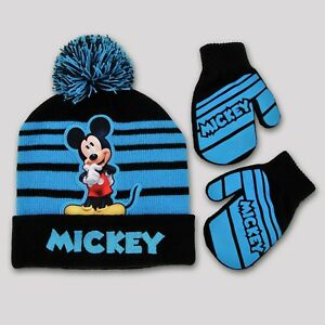 DISNEY - MICKEY MOUSE BOY S HAT   MITTENS SET SIZE INFANT TODDLER ... 420e726c152b