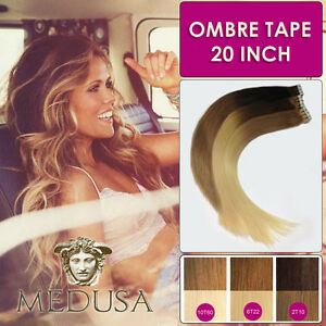 Medusa ombre balayage tape remy human hair extensions dip dye 20 image is loading medusa ombre balayage tape remy human hair extensions pmusecretfo Gallery