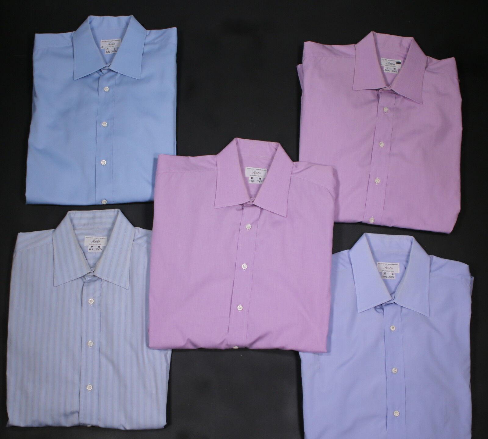 ANTO  Lot of 5 Dress Shirts Made for DAVID BOREANAZ Bones 16.5-36