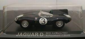 1-43-JAGUAR-D-24H-LE-MANS-1957-R-FLOCKHART-I-BUEB-IXO-ALTAYA-ESCALA