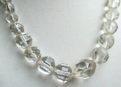 Adattabile Ancien Rare Collier De Perles De Verre à Reflets Superbes Bijou Vintage 1805 Essere Romanzo Nel Design