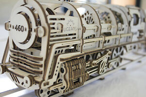 UGEARS STEAM LOCOMOTIVE WITH TENDER MECHANICAL MODEL FROM UGEARS_USA