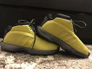 sports shoes 0b483 8955b Image is loading Adidas-Crazy-1-Kobe-Sunshine-Yellow-G98371-Mens-