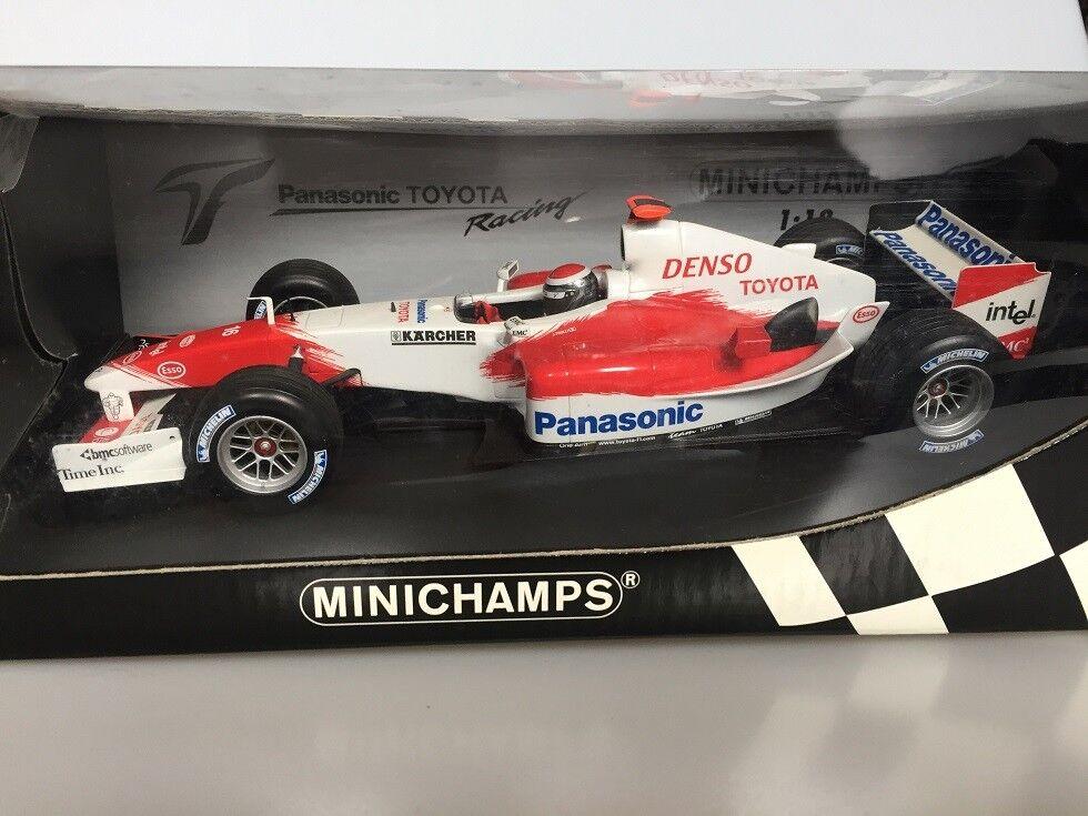 18 minichamps panasonic toyota racing showcar 2005