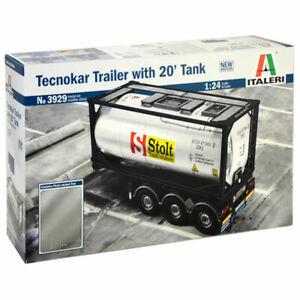 Tecnokar Remorque avec réservoir de 20 pieds - Kit de camions 1/24 Italeri 3929 8001283039291