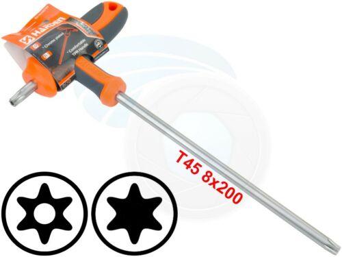 T45 T-Poignée Torx Sécurité Broche 6 point Star Clé CRV Tournevis Clé