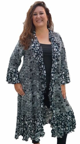 Lotustradere Batik Misses X478 Jakke Order Plus Made Duster Luxe Ruffling To rprCwRqU