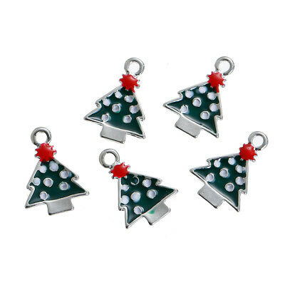 2 x Christmas Snowman Enamel Charms Pendants Bead Spacer Findings 25mm x 17mm