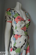 Whistles 40's FLORAL pastel VINTAGE tea dress ww2 HOMEFRONT bias QUALITY 8