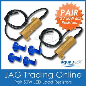 2 x 12V 50W LED LOAD RESISTORS - For Auto Car Stop/Tail/Indicator Light Globes