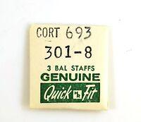 Old Stock Cortebert 693 3 Balance Staffs Watch Part 301-8