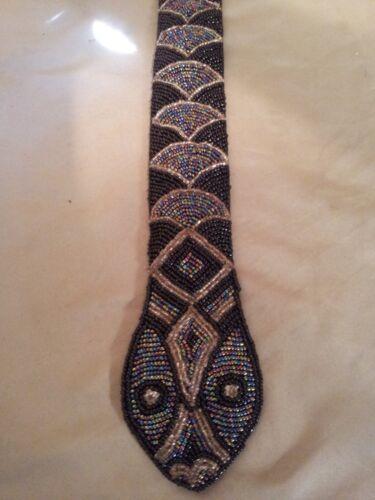 Vintage Beaded Snake Belt.