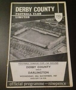 Derby-County-v-Darlington-Programme-29-11-67