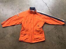 Vintage Nautica Sailing Parka Jacket Coat sz Large Orange Blue White