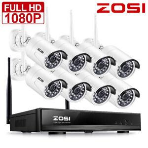 ZOSI-Full-1080p-Wireless-NVR-2MP-CCTV-Set-Aussen-Funk-Uberwachungskamera-System