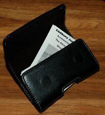 Business Card Holder Name Card Wallet Case Organizer W Magnetic Closure Beltclip