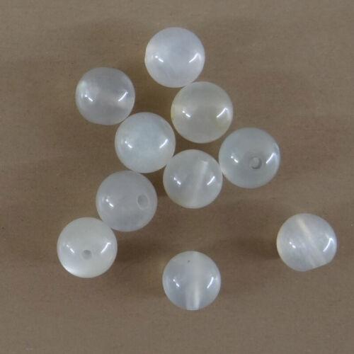 pierre naturelle-vtp153 10 perles de gemme de 6 mm en pierre de lune