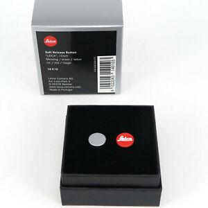 """LEICA SOFT Release Button 12mm """"Leica"""" ROT ART 14010 Messing *Fotofachhändler*"""