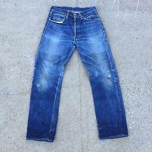88624e8d849 Details about Double X Vtg Leather patch Hidden Rivets Big E Levis 501 Xx  501s Jeans usa 31 31
