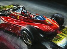 Gilles Villeneuve Ferrari 312 T4 Monaco Montecarlo F1 1979 Car Art Print Poster