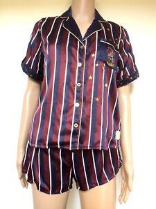 Harry Potter Pyjama Gryffindor Shorts & Top Set Ladies Primark Red & Blue