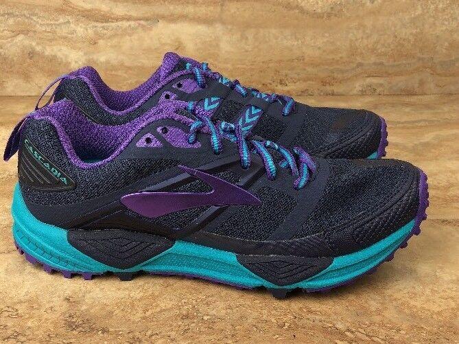 Brooks Women's Cascadia Trail Running shoes Purple bluee Sneakers