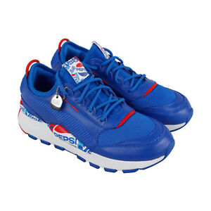 Puma-Rs-0-X-Pepsi-36834402-Mens-Blue-Leather-Casual-Low-Top-Sneakers-Shoes