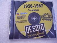1956 1957 Desoto Shop Manual Originals On Cd