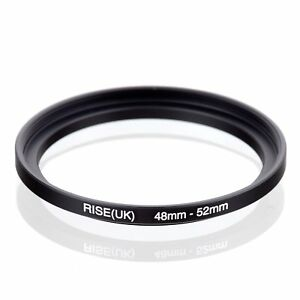 RISE-UK-48mm-52mm-48-52-mm-48-to-52-Step-Up-Ring-Filter-Adapter-black