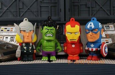 AVENGERS Assemble 5 Figure Playset Hulk Captain America Iron Man Thor Caketopper