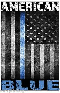 American-Police-Blue-Line-Sublimated-T-Shirt