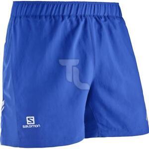 Details about Salomon Agile Short Blue Mens l39387100 Running Pants Short NEW show original title