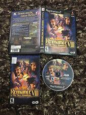 PS2 Playstation 2 Romance VIII Of The Three Kingdoms CIB Complete