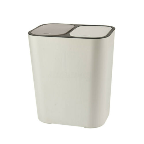 2 Compartment Waste//Trash//Recycle Bin with Push Button for Kitchen Diff Kitchen