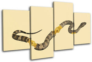 Apple-Core-Snake-Concept-Food-Kitchen-MULTI-CANVAS-WALL-ART-Picture-Print