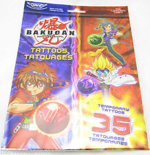 Bakugan Battle Brawlers 35 Temporary Tattoos Savvi Brand Made In USA NEW!