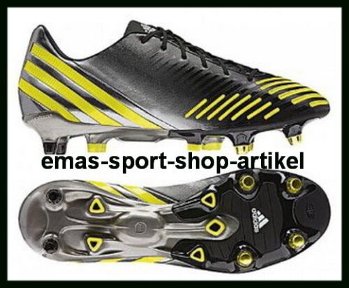 Adidas PREDATOR LZ XTRX SG Stollen miCoach Gr.UK-7 Fb.Black/Lablime/Neo V20983
