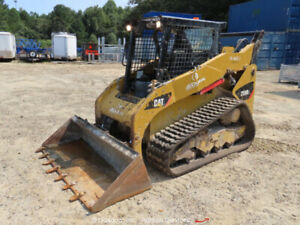 2013 Caterpillar 259B-3 Skid Steer Rubber Track Loader Crawler 2 Speed bidadoo